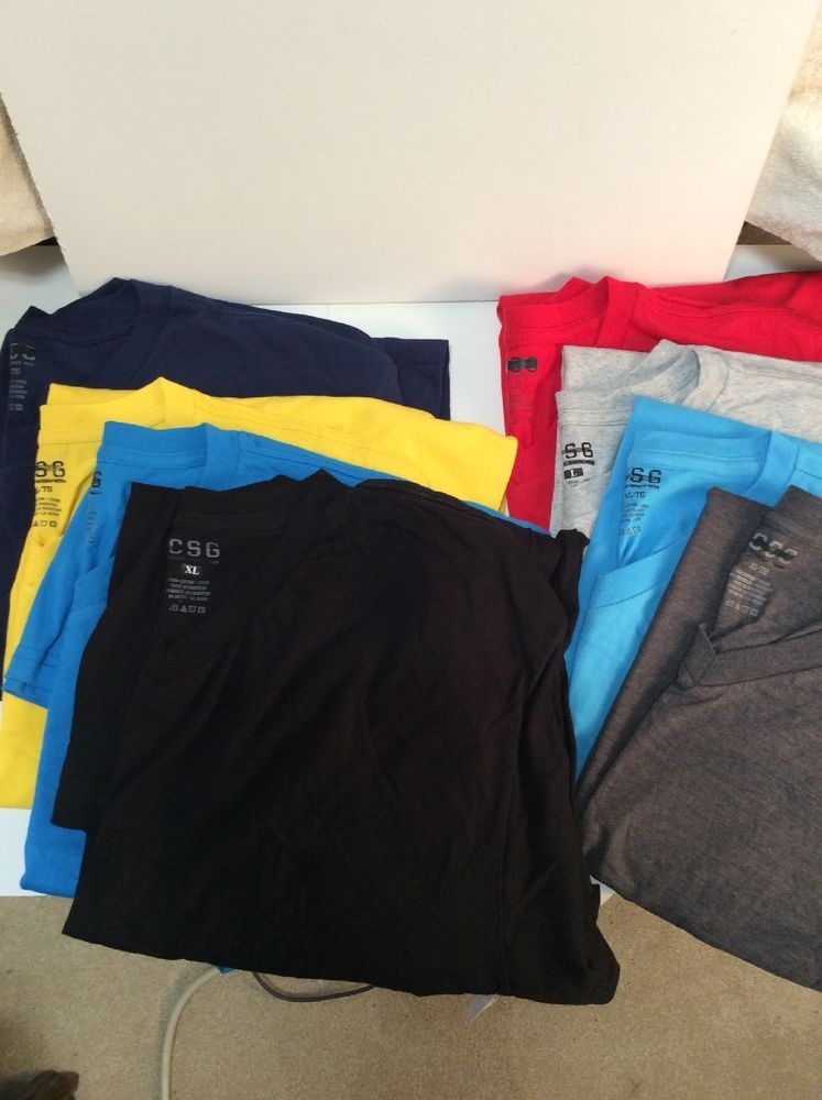 Mens Big /& Tall Heavy Tee V Neck T-Shirts Short Sleeve 3X 4X 5X 6X COLORS NWT