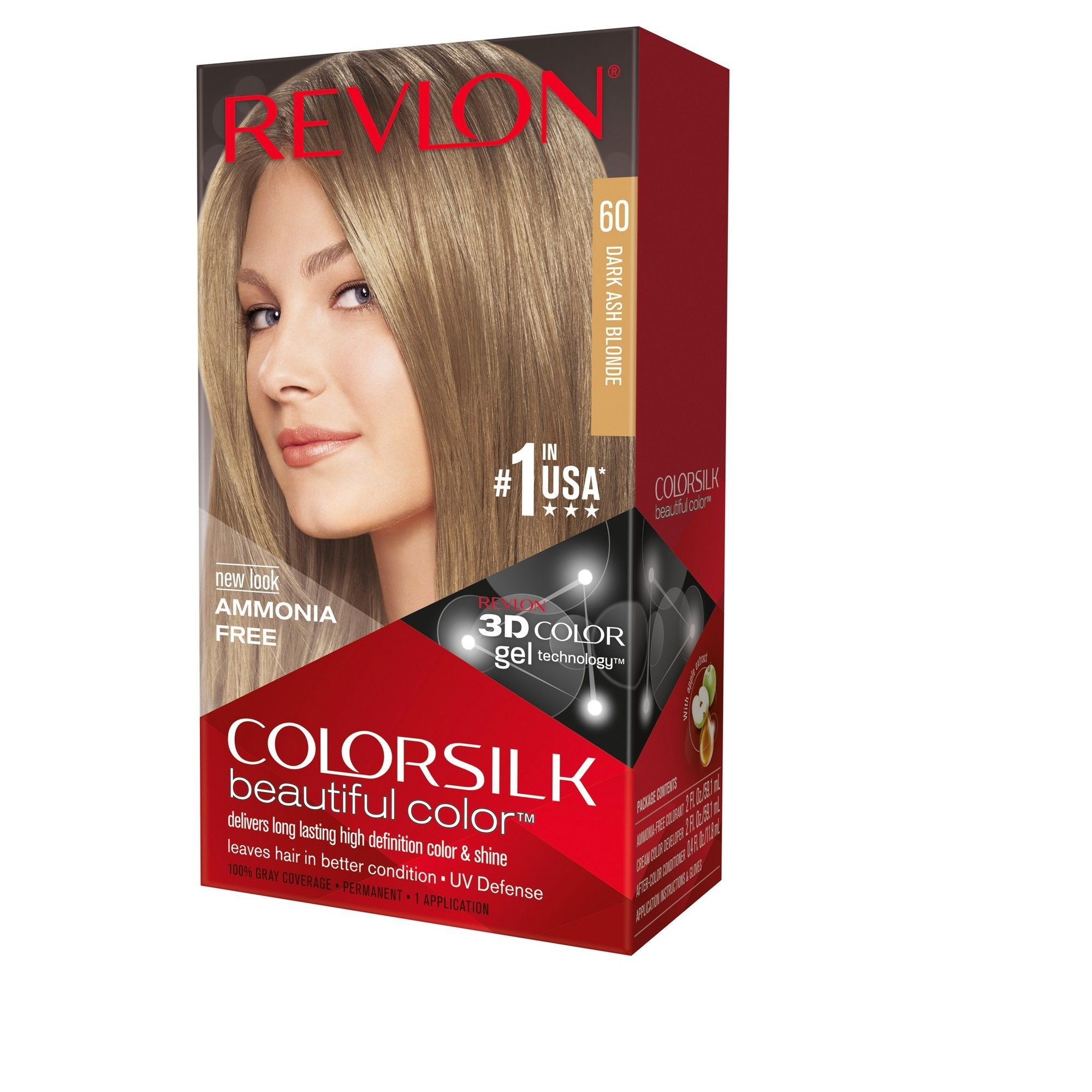 Revlon Colorsilk Beautiful Permanent Hair Color Dark Ash Blonde