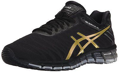 Asics Gel QUANTUM 180 Mens Running Shoes size 10.5 NEW BLACK GOLD SILVER