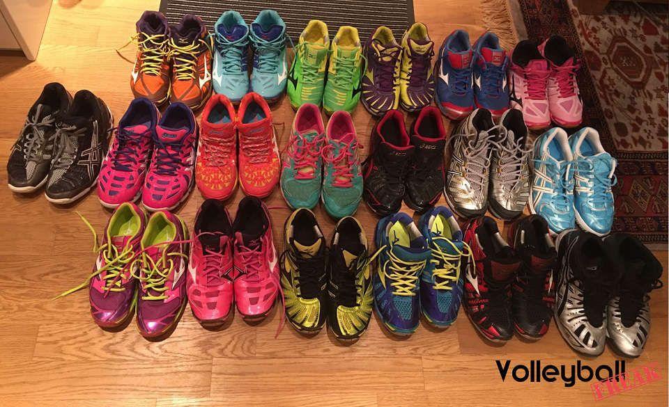 Verrückt nach Volleyballschuhe. 19 verschieden Asics und Mizuno ...