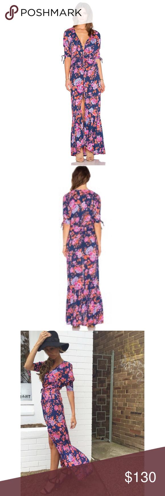 Host pick roamer maxi dress nwt front button drawstring waist