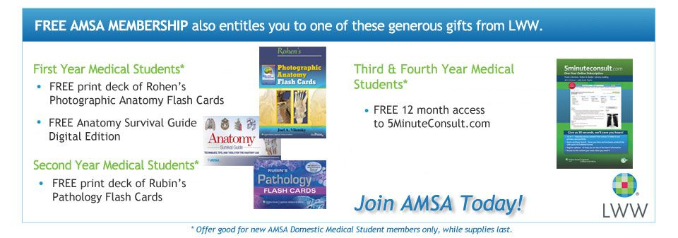U.S. Medical Students Join AMSA and Receive Your Free