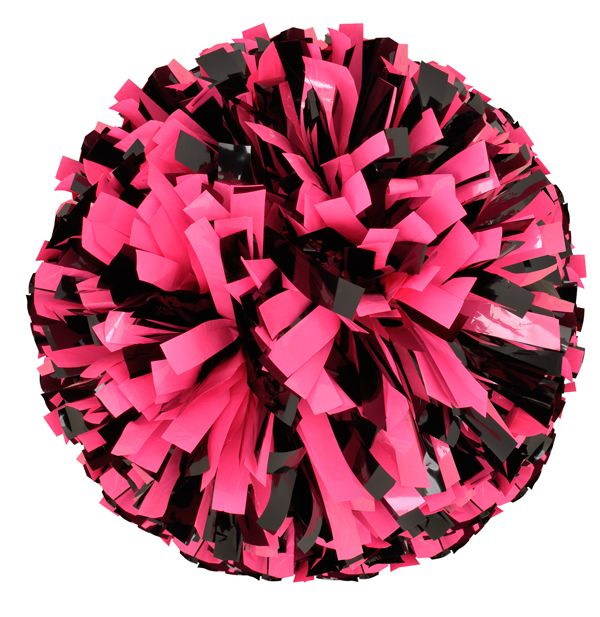 Be Bold Fluorescent Pink And Black Pompoms For A Cause Pom