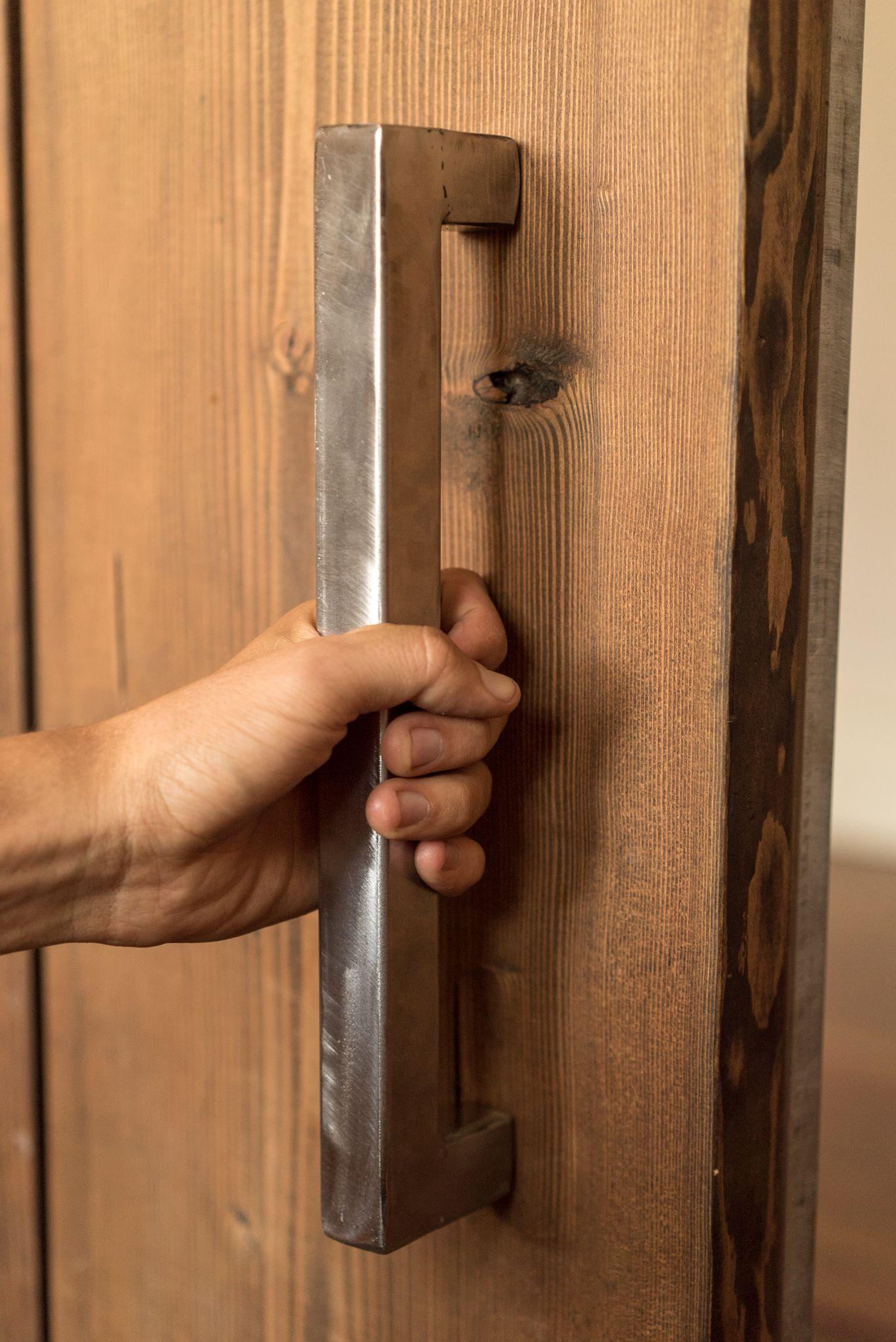 L Style Steel Sliding Barn Door Handle Handmade In The Usa More