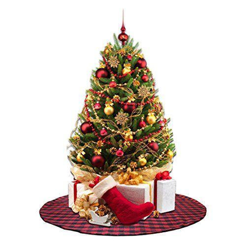 $2599  FREE Shipping EDLDECCO 36 inch Plaid Christmas Tree Skirt