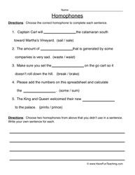 homophones worksheet 2 grammar skills free worksheets for teachers grammar skills grammar. Black Bedroom Furniture Sets. Home Design Ideas