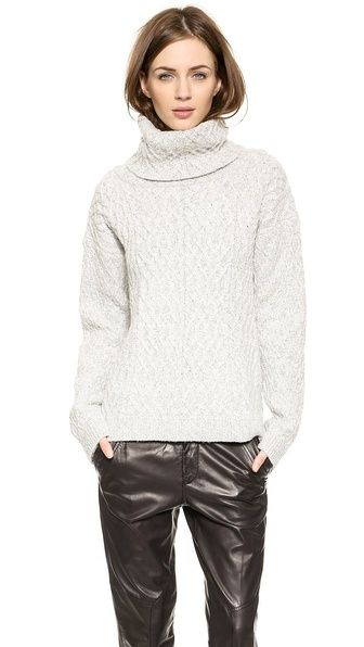 Knitz Snow Day Turtleneck Sweater | Gray, Winter and Fall winter