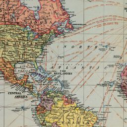 Cavallini World Map Wrapping Paper | Wrapping papers and Nursery
