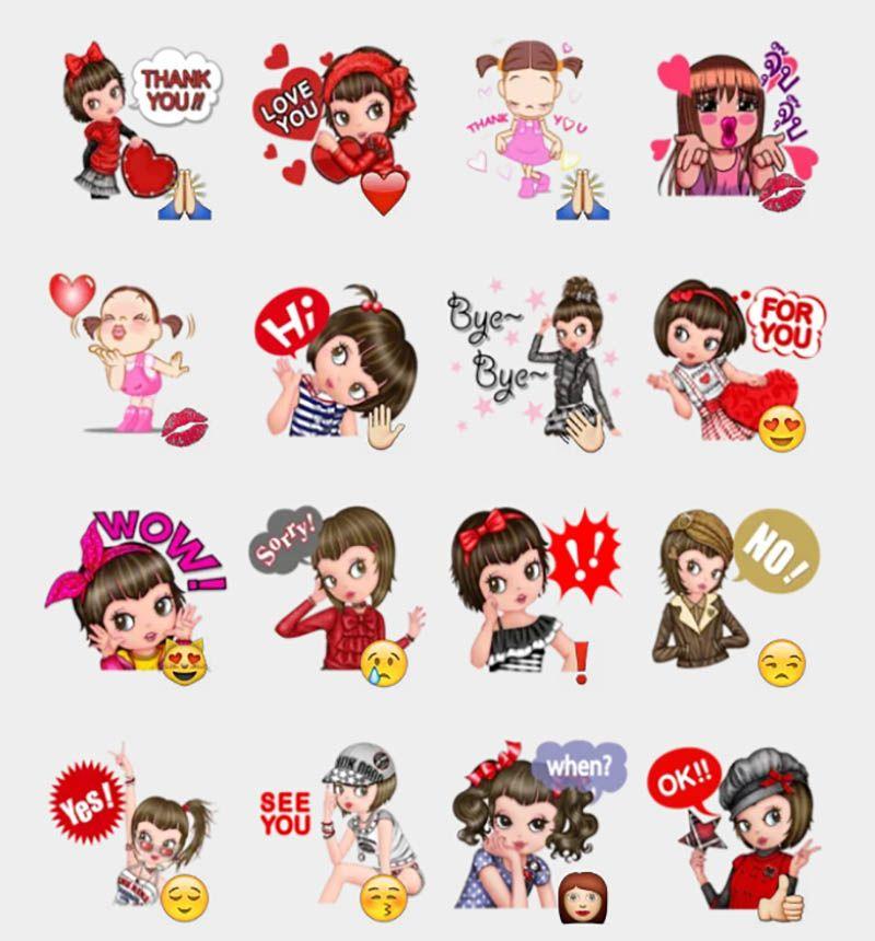 Girl Stickers Set | Telegram Stickers | Love in 2019