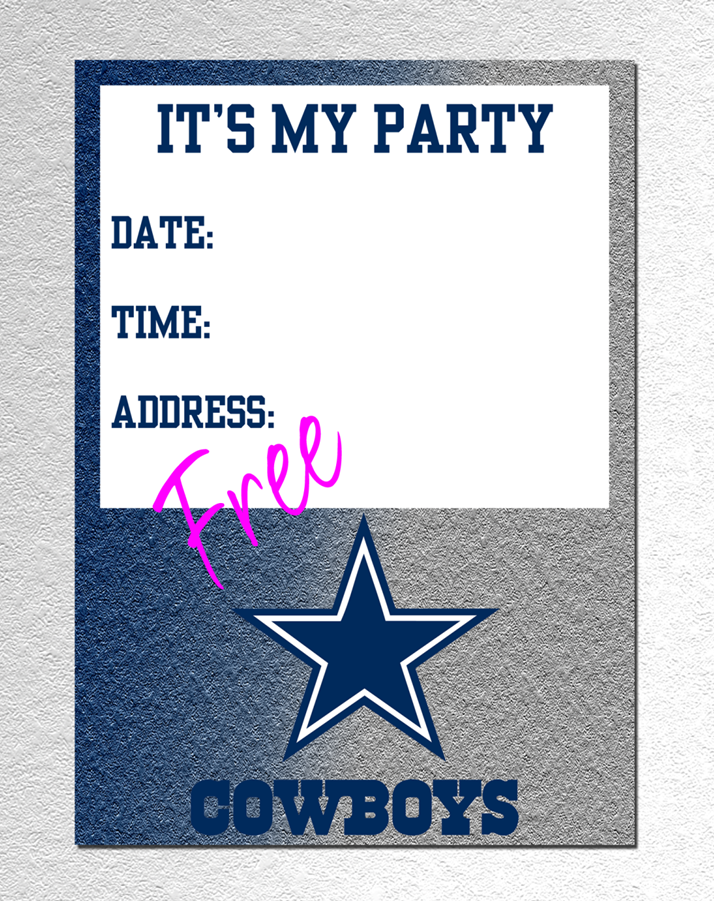 Dallas Cowboy Invitation FREE PDF Download – Dallas Cowboys Birthday Invitations