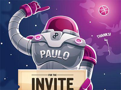 Dribbble Invitation Thanks Graphics Inspiration (8)
