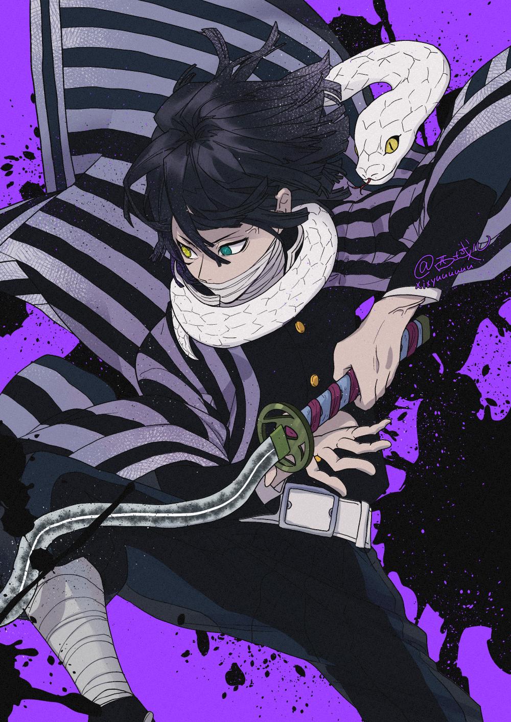Iguro Obanai By Pixiv Id 3729995 Anime Demon Anime Anime Wallpaper