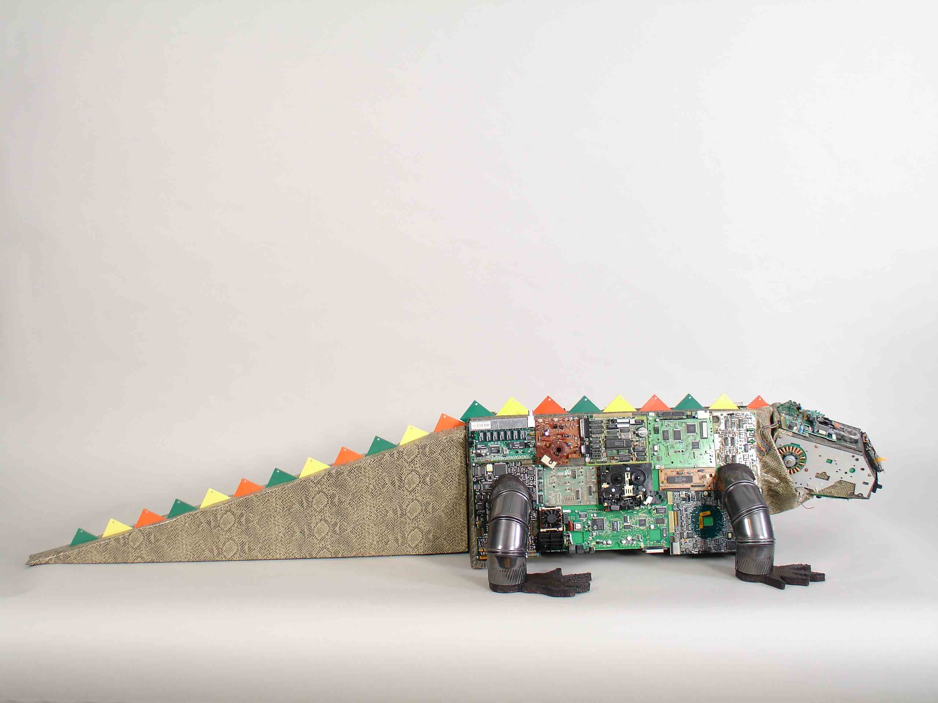 Iguanagator Is A Cross Between An Iquana And Alligator He Six Pcb Sculptures Artist Upcycles Old Circuit Boards Into Art Feet Long Very Likable Fellow Iggy Has Distinctive Head That Started Life As