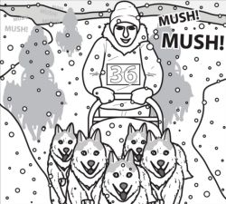 iditarod coloring pages for kid - photo#21