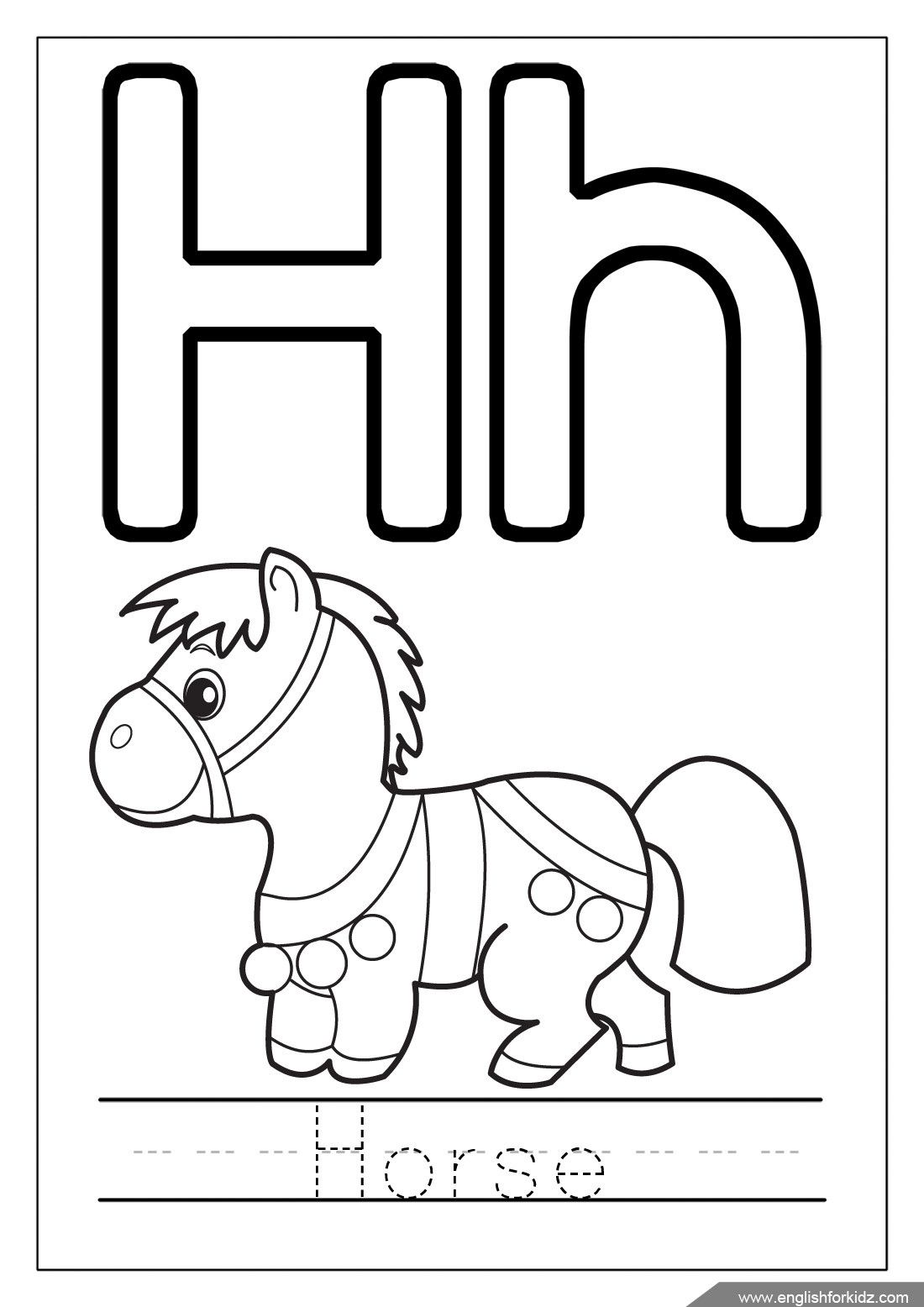 H Is For Horse Coloring Page Youngandtae Com Alphabet Coloring Pages Letter A Coloring Pages Alphabet Coloring
