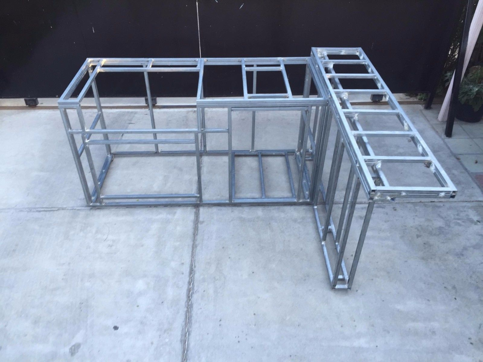 A Knock Down Bbq Frame For You To Build As You Like Our Kits Are Made Of 16 Gauge Galvanized T Outdoor Kitchen Kits Diy Outdoor Kitchen Outdoor Fireplace Kits