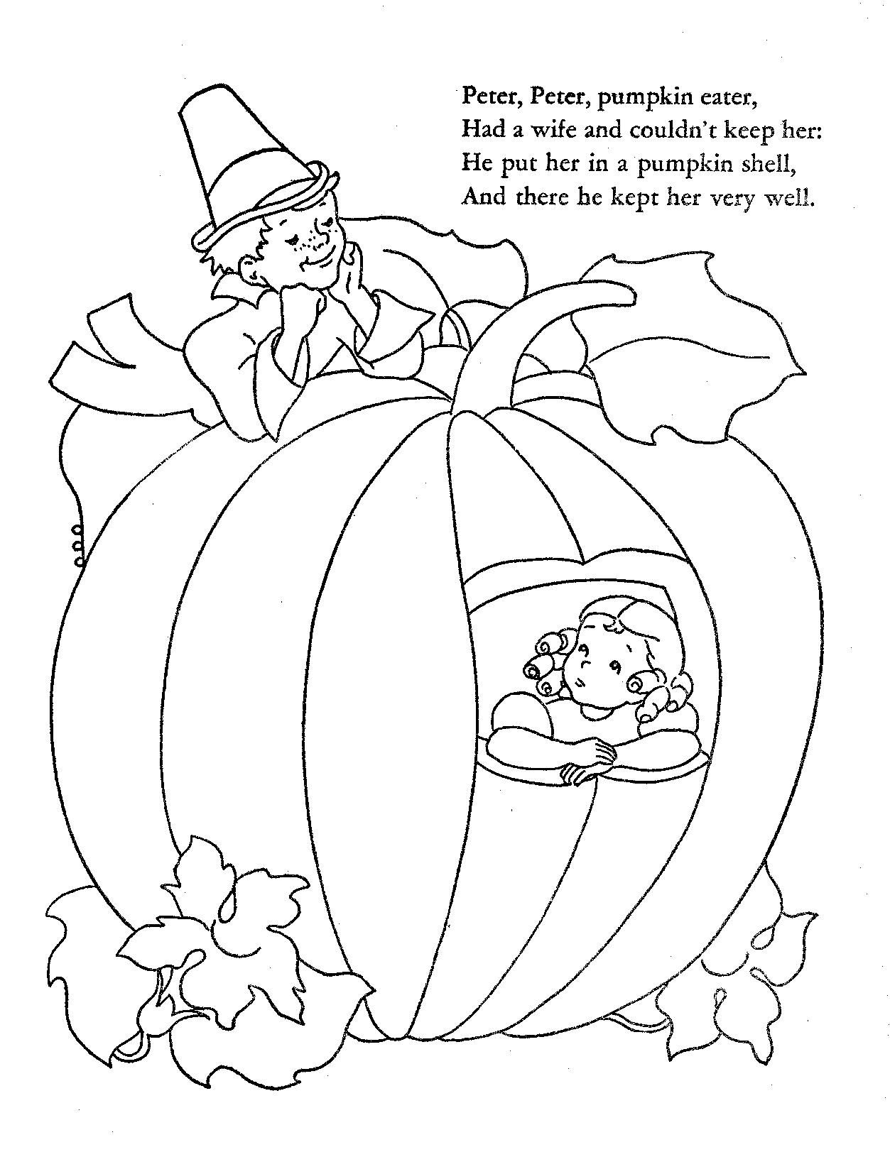 12++ Peter peter pumpkin eater coloring page download HD
