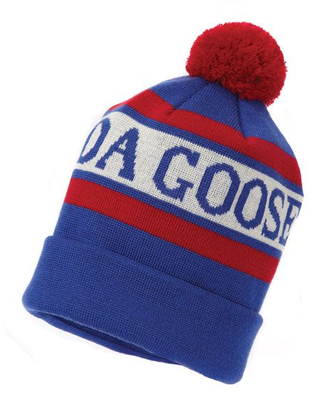CANADA GOOSE Stitched-Logo Wool Pom-Pom Beanie Hat 364fba99c289