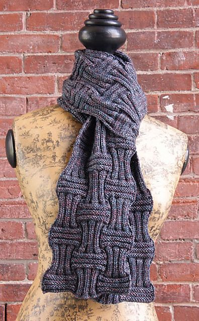 Free Pattern Ribbed Basket Weave Scarf By Jasper Adams Knit