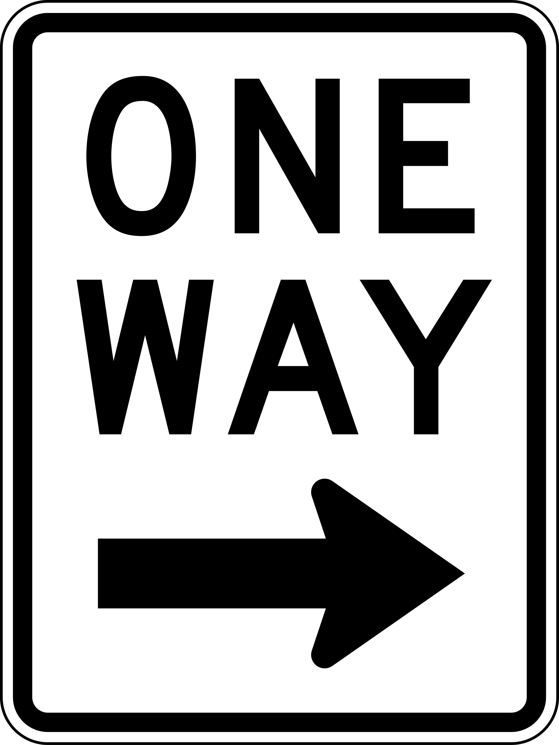 One Way Right Traffic Sign Vertical By Rfc