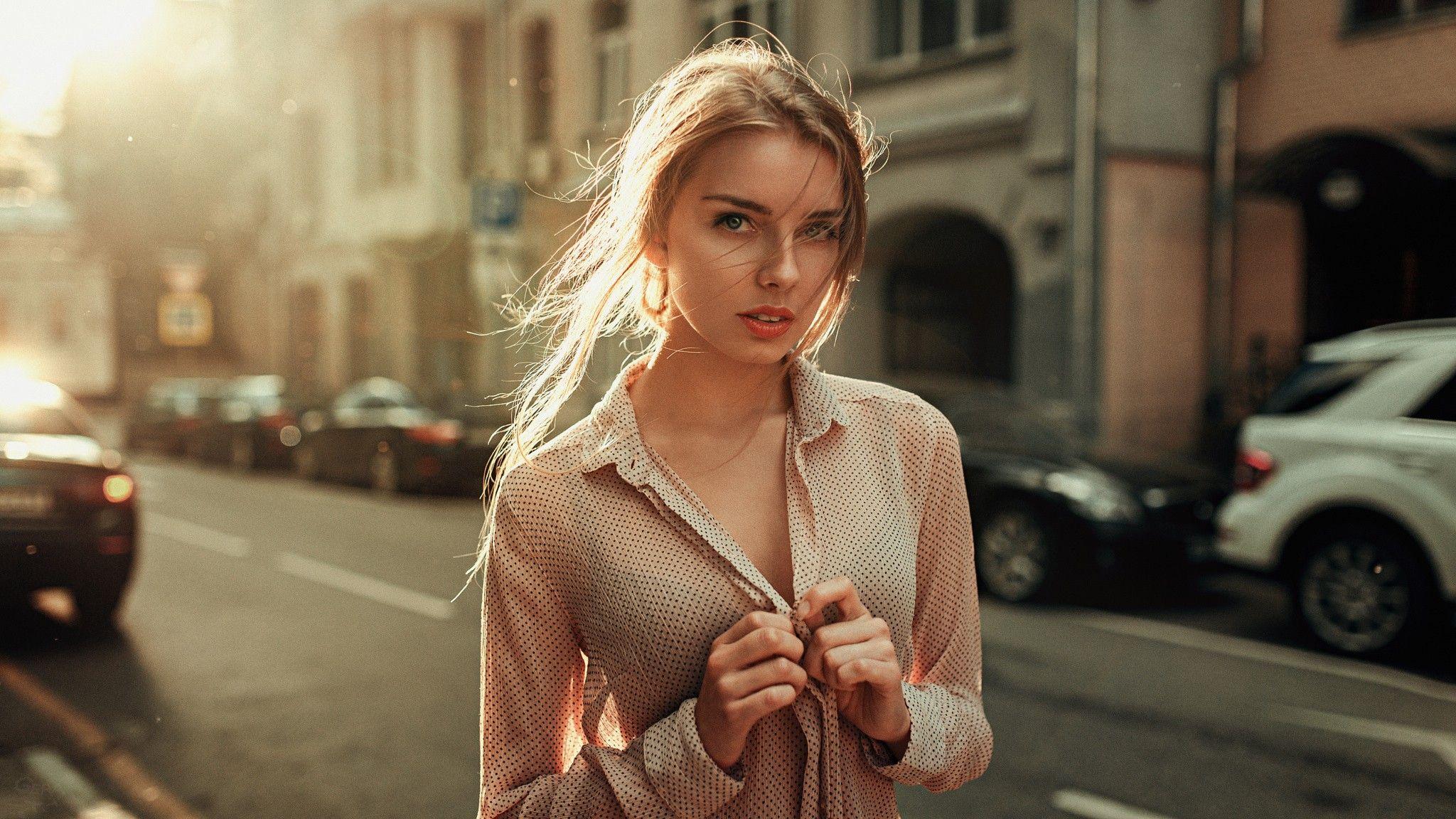 Alyssa Leblanc Nude women outdoors, #long hair, #model, #blonde, #street, #women