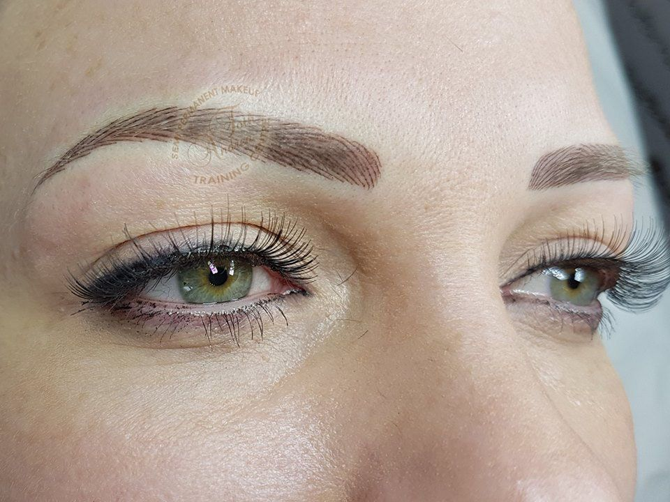 Personalized Hairstroke Eyebrow The Hair Direction Of Brows Is