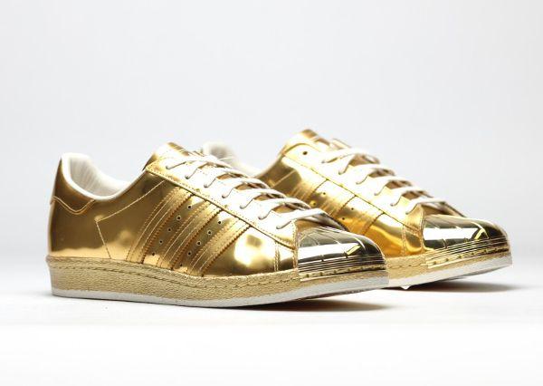 adidas superstar dorée