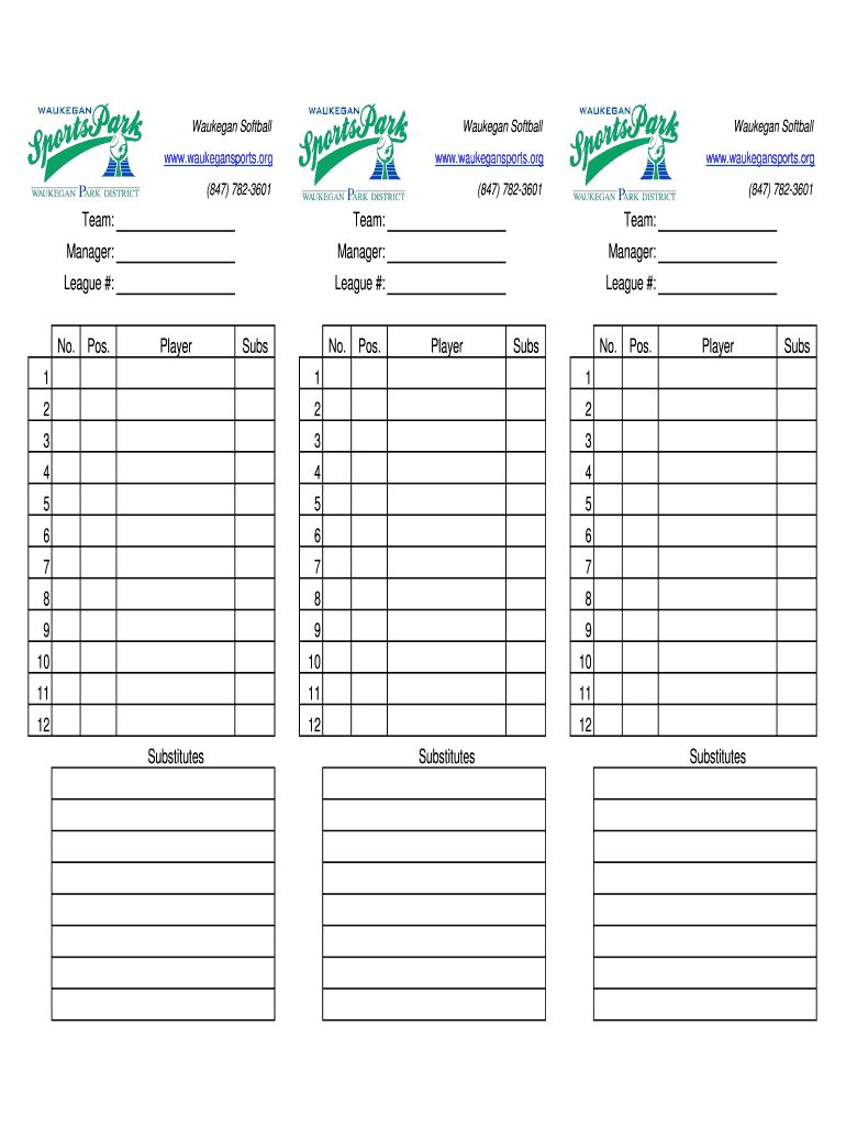 The Marvellous Baseball Lineup Sheets Fill Online Printable Fillable Regarding Softball Lineup Card Templ Baseball Lineup Card Template Card Templates Free