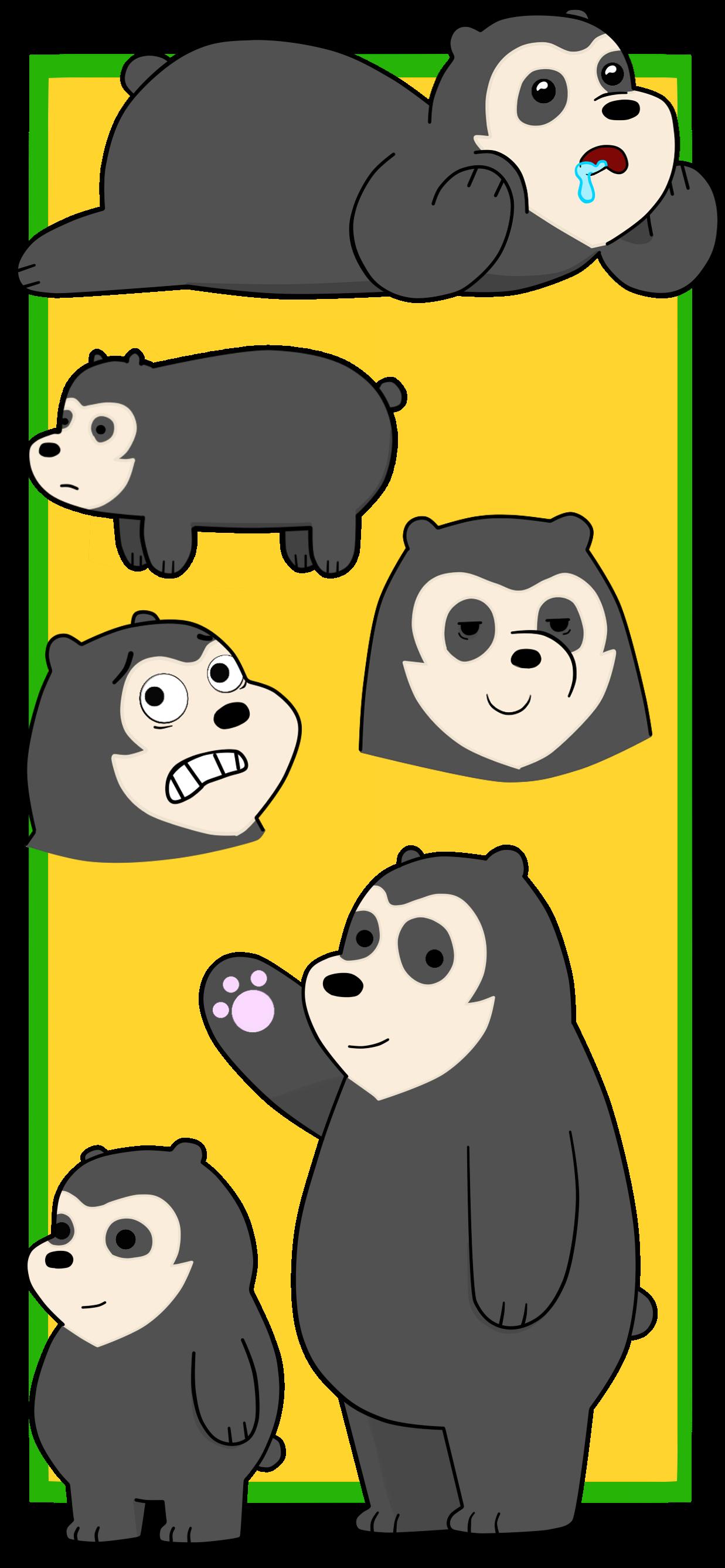 We Bare Bears #Escandalosos #oso frontino #oso anteojos #oso negro ...