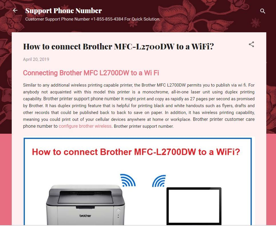 How To Connect Brother Mfc L2700dw To A Wifi Brother Mfc Printer Brother Printers