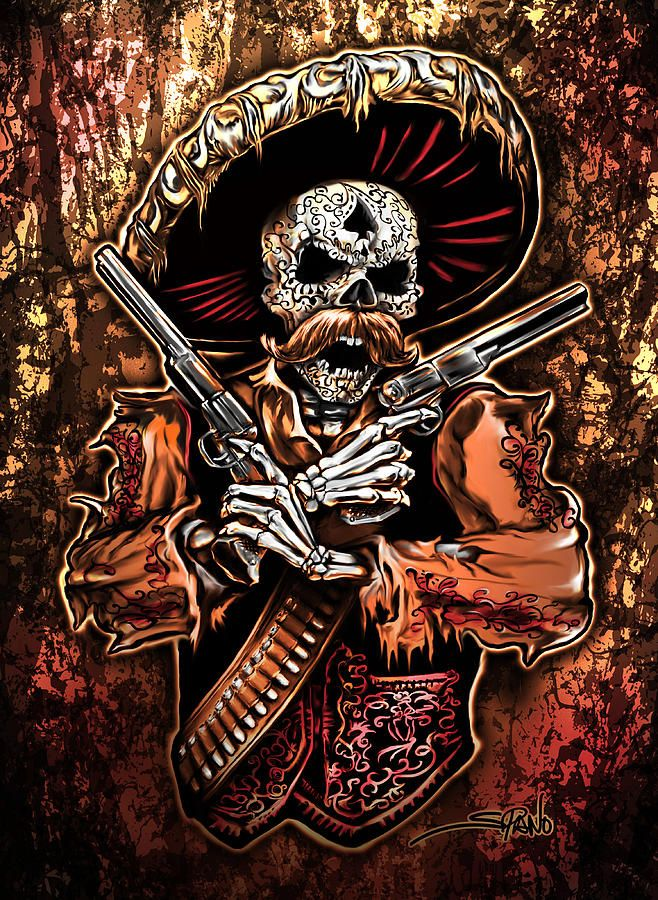 Day Of The Dead Gunslinger By Michael Spano In 2019