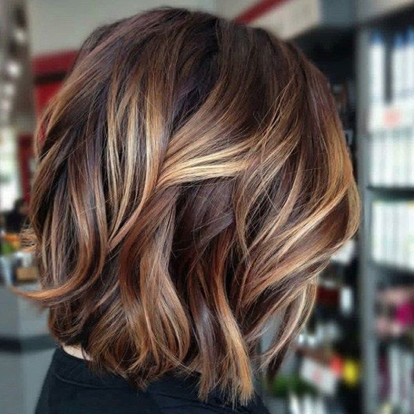 Bright Balayage On A Brunette Base Haircolor Formu