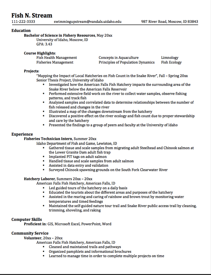 Sample Hatchery Laborer Resume Examples Resume Cv
