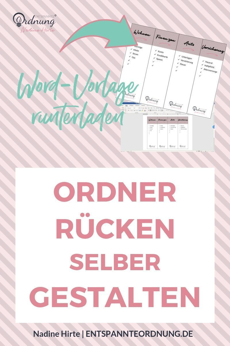 Ordnerrucken Word Kostenlose Vorlage Zum Download In 2020 Ordnerrucken Word Ordnerrucken Ordner