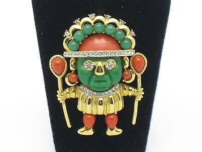 Hattie Carnegie Vintage Aztec Warrior Witch Doctor Brooch Pin Book PC | eBay ONE DAY ONLY SALE - 20% OFF ENTIRE STORE FRIDAY, JANUARY 10