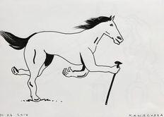 Kamagurka - Paard met stok