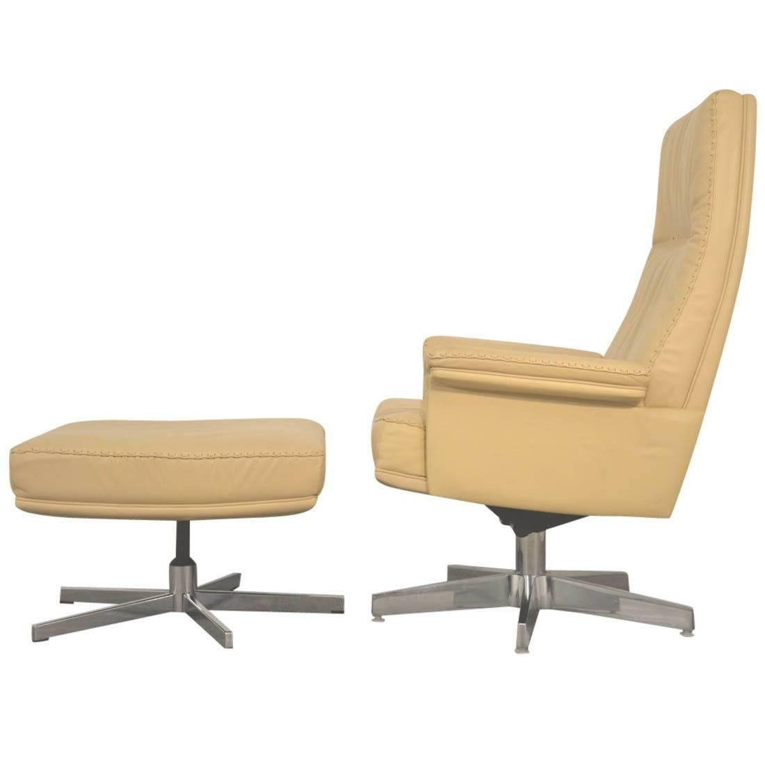Vintage Swiss De Sede Ds 50 Lounge Swivel Armchair And