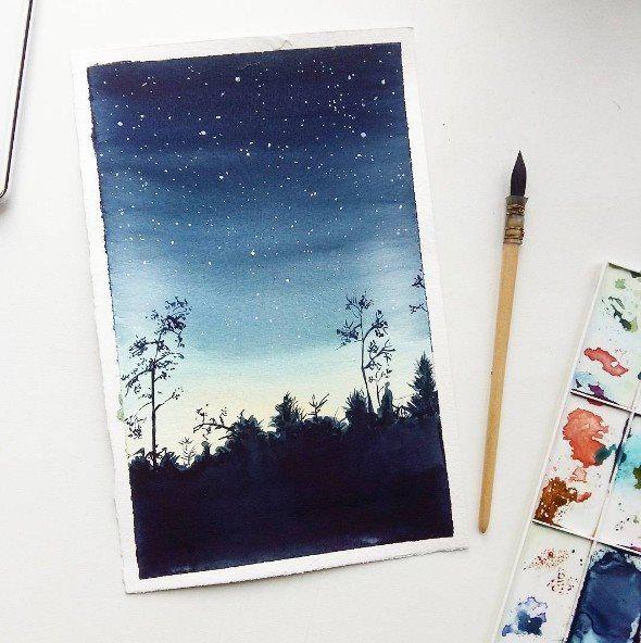 Tumblr Art Wave Watercolors Ideas Drawings Water Colors Watercolor Paintings Watercolour Golf