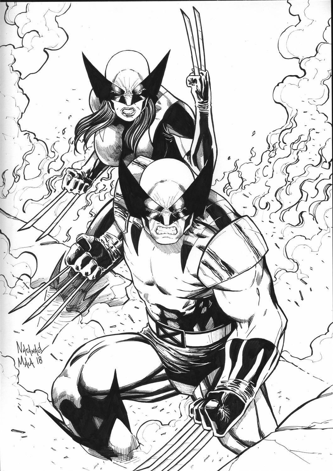 Wolverine & X-23 by Natanael Maia | Adult Super Hero Coloring Pages ...