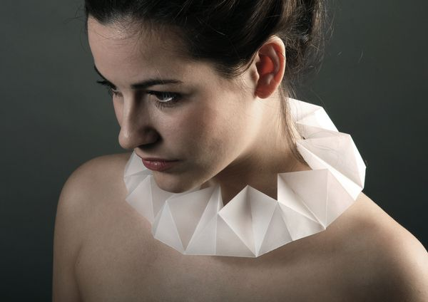 Paper Jewellery by fruzsi fekete, via Behance