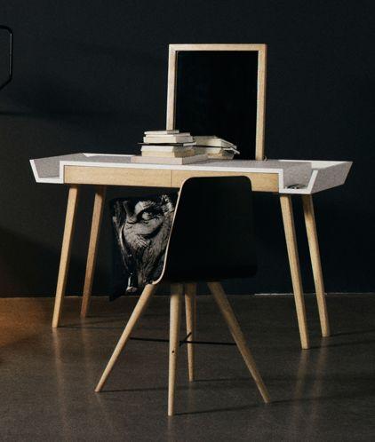 makeup bord STYLO makeup bord / SAYS WHO Alternativt skrivebord med spejl  makeup bord