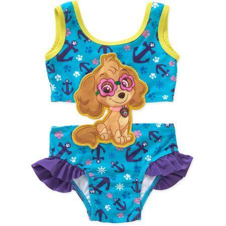 90b38326ca Paw Patrol Toddler Girl Swim Suit with Applique