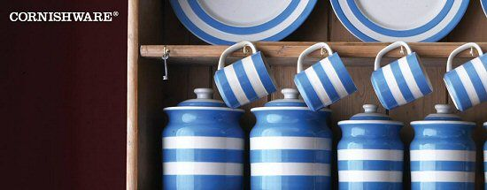 The origins of the Cornish name lie firmly with T. G. Green, who have been producing the Cornish range of blue and white striped pottery since the 1920s.