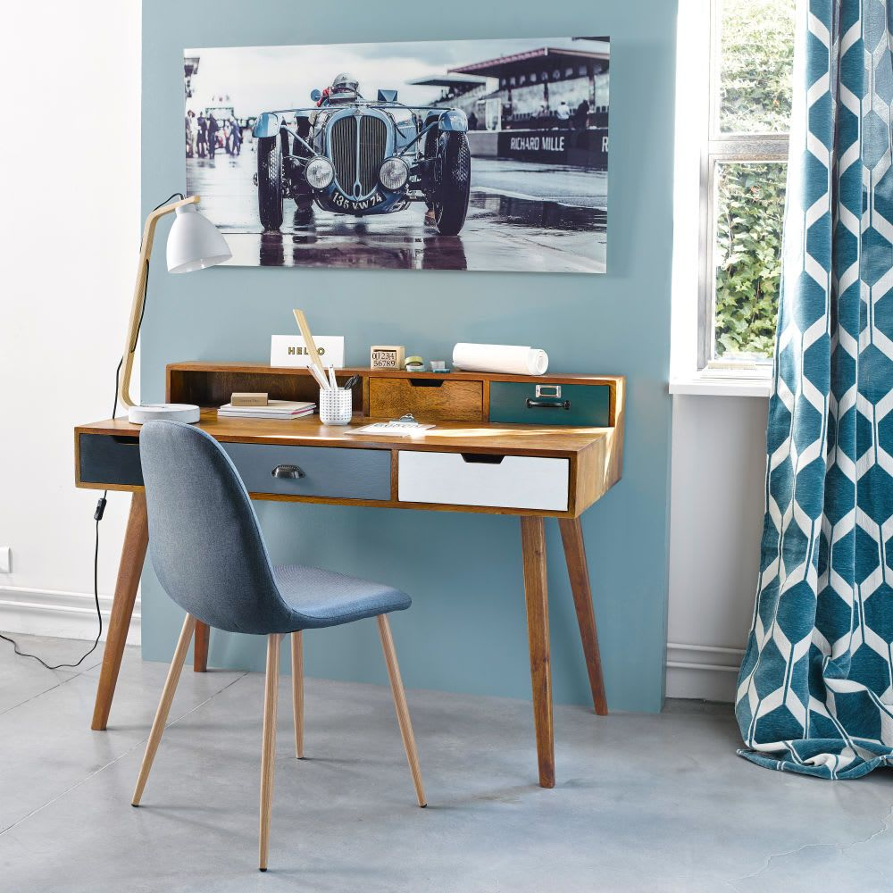 Silla Escandinava Azul Vaquera Clyde Deco Chambre Parental Bureau Maison Du Monde Bureau A Domicile