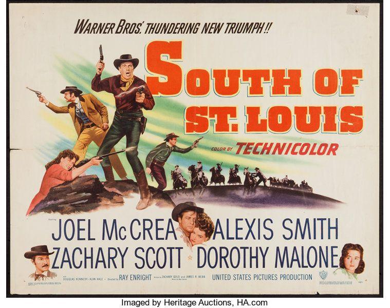 South of Saint Louis Joel McCrea Movie poster print