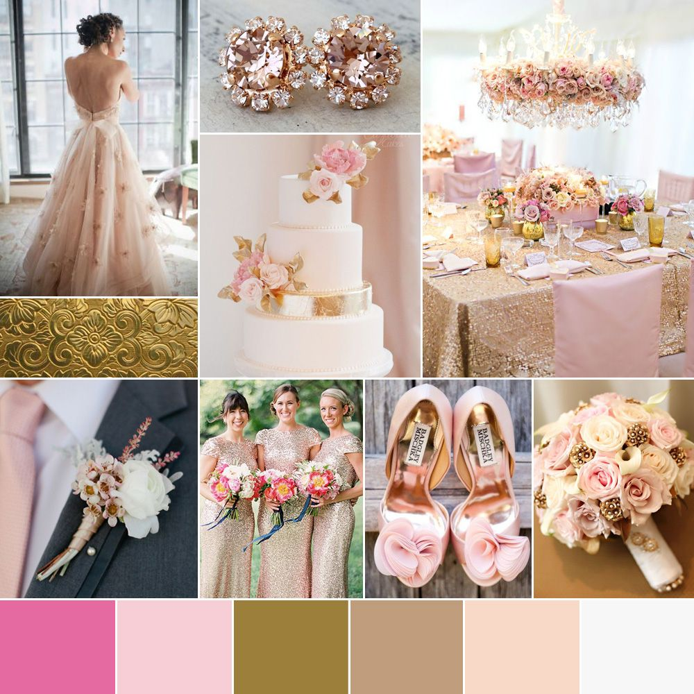 Go bespoke pink gold wedding color palette 10001000 color wedding color palette pink gold blush rose modern classic girly feminine sophisticated modern high end classic trendy sparkle rich warm ivory cream winter junglespirit Image collections