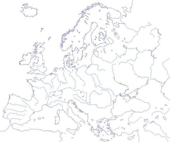 Mapa Fisico Mudo Rios De Europa Para Imprimir.Mapa Rios Europa Busca De Google Mapas Mapa Fisico De