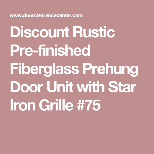 Discount Rustic Pre Finished Fiberglass Prehung Door Unit With