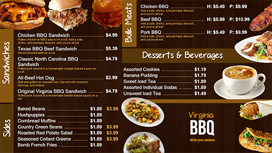 Digital bar and grill menu board templates digital menu boards digital bar and grill menu board templates maxwellsz