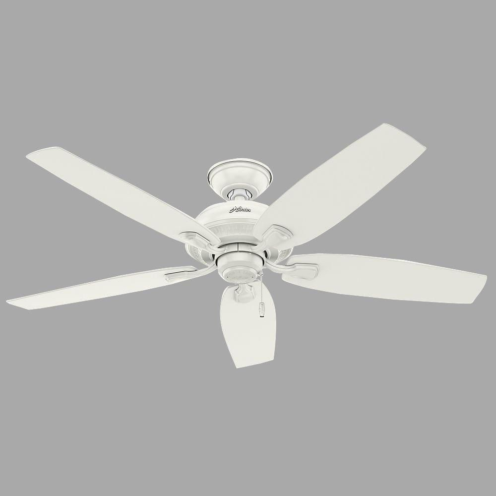 Hunter Tidewater 52 In Indoor Outdoor Fresh White Ceiling Fan